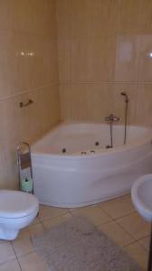 łazienka z dużą wanną i toaleta